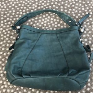 B makosky genuine leather bucket shoulder bag NWOT